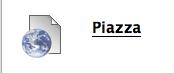 A Piazza web link in a Blackboard content area