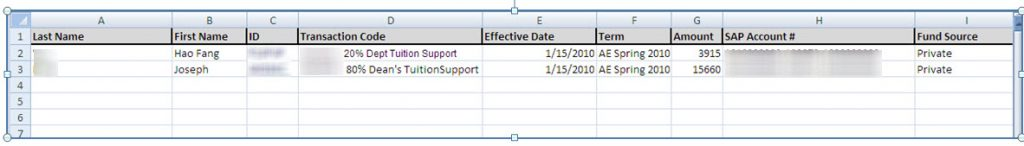 Example Excel File