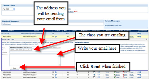 Email Class Form