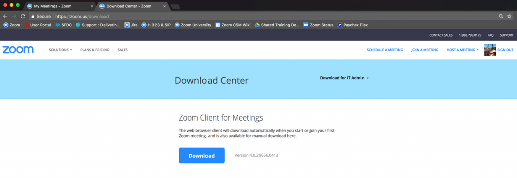 Zoom Download Center