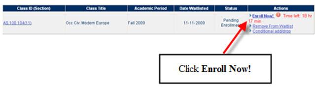 Pending Enrollment - Enroll Now