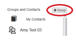 Add Group button in Groups and Contacts