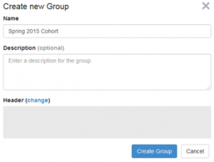 Create new Group form