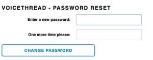 VoiceThread - Password Reset