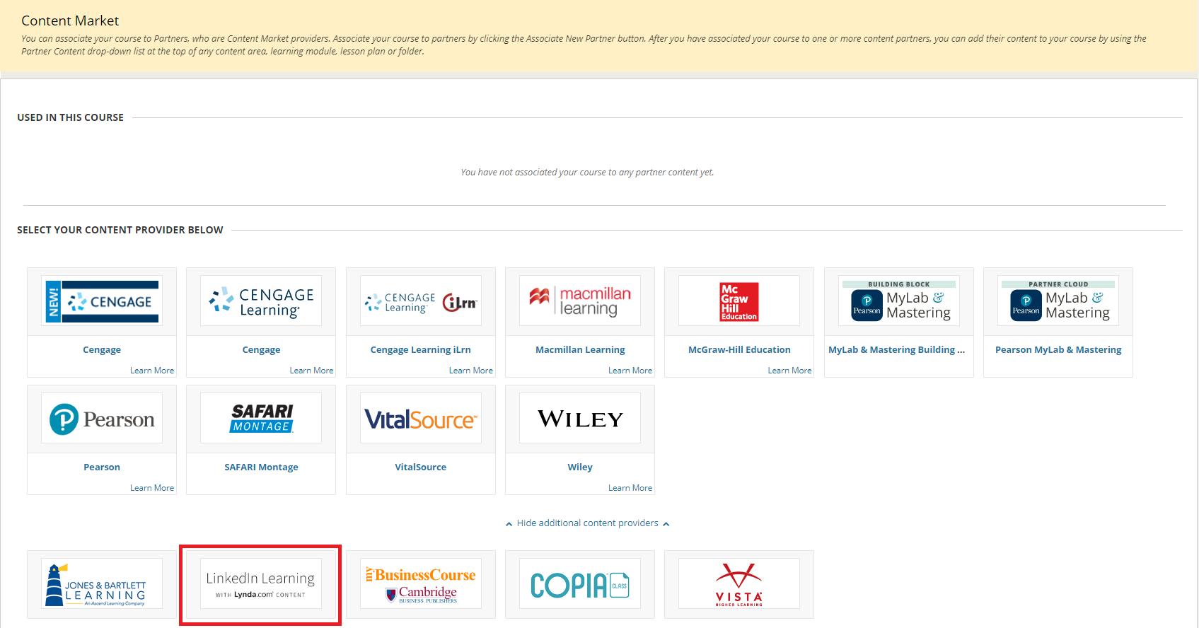 Select LinkedIn Learning