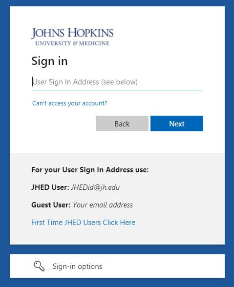 Enterprise authentication page