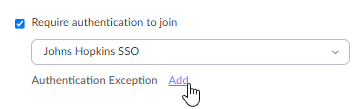Adding User to the Exception List