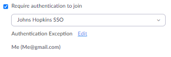 User Added to Exception List